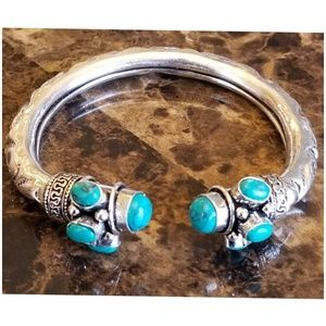 """Jewelry - Turquoise Bangle fit from 6.5"""" - 8"""""""